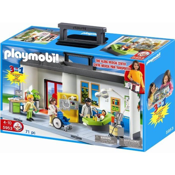 playmobil 5953 h pital transportable achat vente. Black Bedroom Furniture Sets. Home Design Ideas