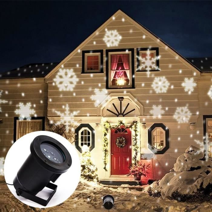 Led snowflake effet lumi res ext rieur lumi re de no l for Lumiere exterieur noel