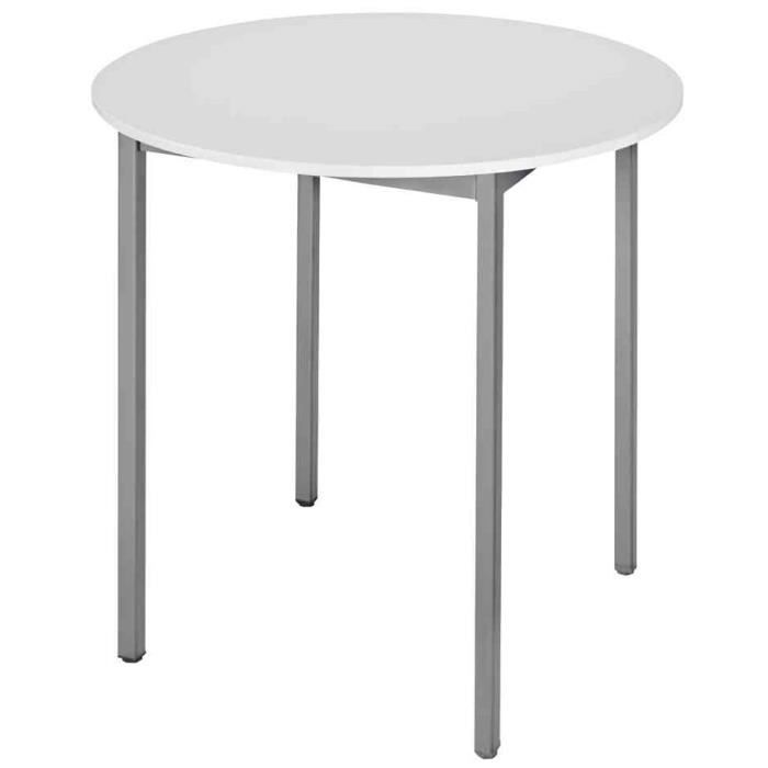 table universelle 80rogg rond 800 mm gris gris achat vente bureau table universelle. Black Bedroom Furniture Sets. Home Design Ideas