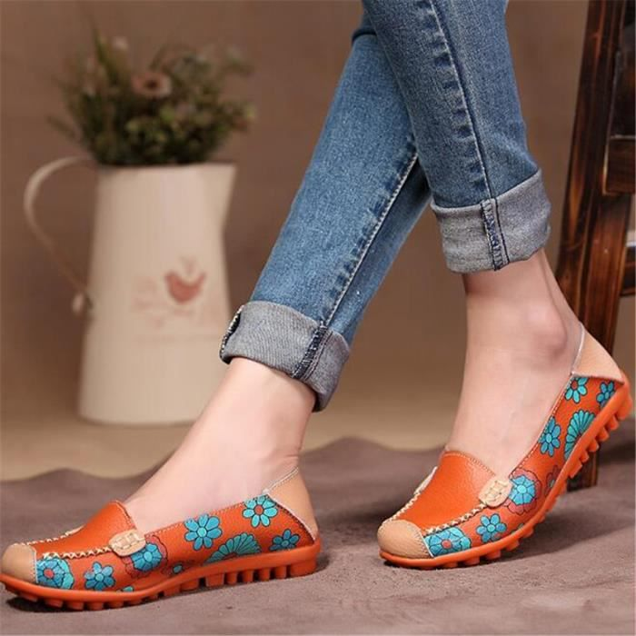 Loafer femmes marque de luxe chaussures 2017 Nouvelle arrivee Respirant Loafers femme Cuir Sneaker casual chaussure Grande Taille