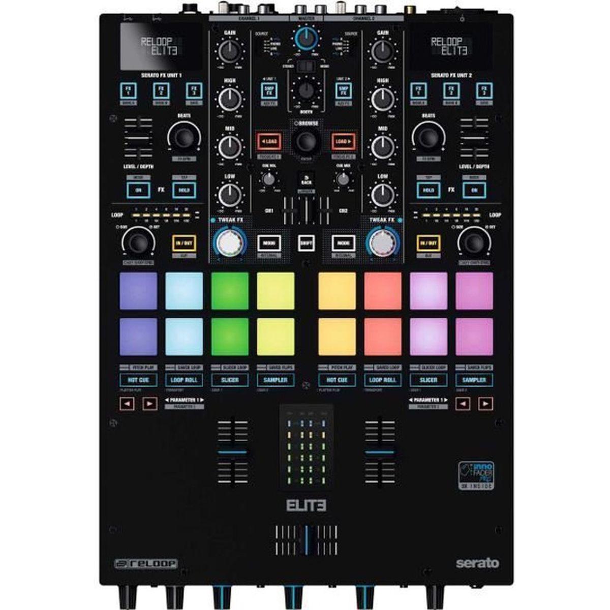 TABLE DE MIXAGE RELOOP - ELITE - Console de mixage professionnelle