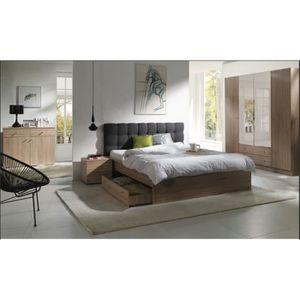 CHAMBRE COMPLÈTE  Chambre à coucher complète MAXIM. Lit adulte 160x2