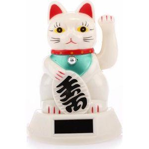 26 cm de Hauteur Porte-Bonheur Japonais lachineuse BIG Chat Maneki Neko Bras Qui Bouge