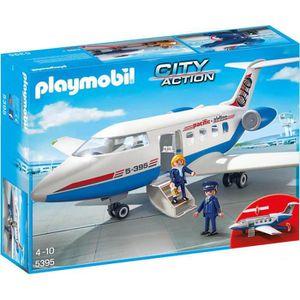 UNIVERS MINIATURE PLAYMOBIL 5395 - City Action - Avion - jeu aeropor