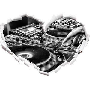 STICKERS Monocrome, moderne illuminé coeur de la console DJ