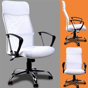 CHAISE DE BUREAU Fauteuil de bureau blanc Chaise de bureau Siège or