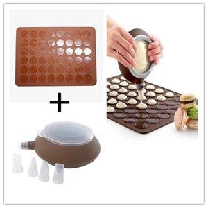 FEUILLE DE CUISSON  Macaron Making Set-48 Capacité Macaron Silicone Cu