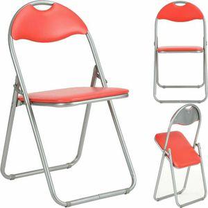 CHAISE DE BUREAU 4 Chaise pliante en similicuir rembourrée - Dossie