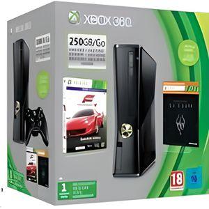 CONSOLE XBOX 360 Microsoft Xbox 360 Console 250go+Forza 4+Skyrim