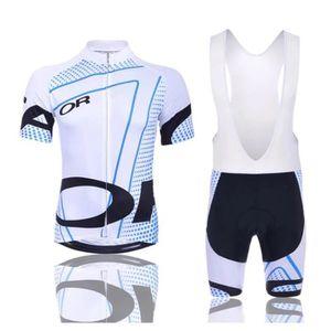 ZED Maillot Cyslisme Manches Courtes Cuissard 3D Gel Coussin Solide Tenue VTT Combinaison V/élo Jersey Respirant S/échage Rapide Cycliste Homme Printemps Ete