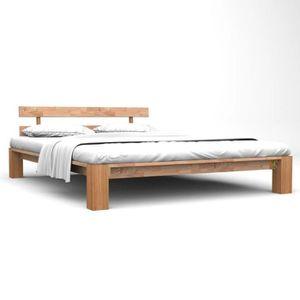 STRUCTURE DE LIT Structure de lit Adulte Cadre de lit Chêne solide