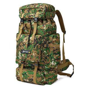 40L exterieur 600D Oxford Tissu etanche Sac a dos tactique militaire Sac a dos ACU Camouflage Sport Voyage Randonnee Sac Noir SODIAL Sac a dos R