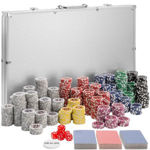 MALETTE POKER TECTAKE Coffret, Malette, Set de Poker 1000 Jetons