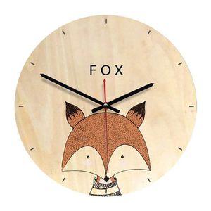 HORLOGE - PENDULE Horloge Murale Ronde Série d'animaux Deco Chambre