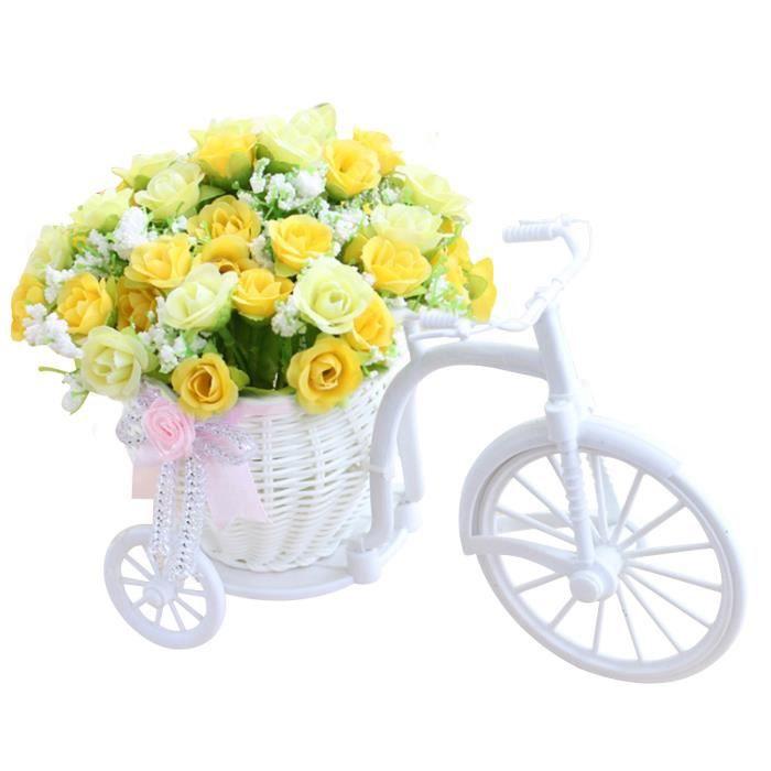fleur artificielle Décoration de bicyclette Rose Nostalgique Romantique Bicyclette s 185JC