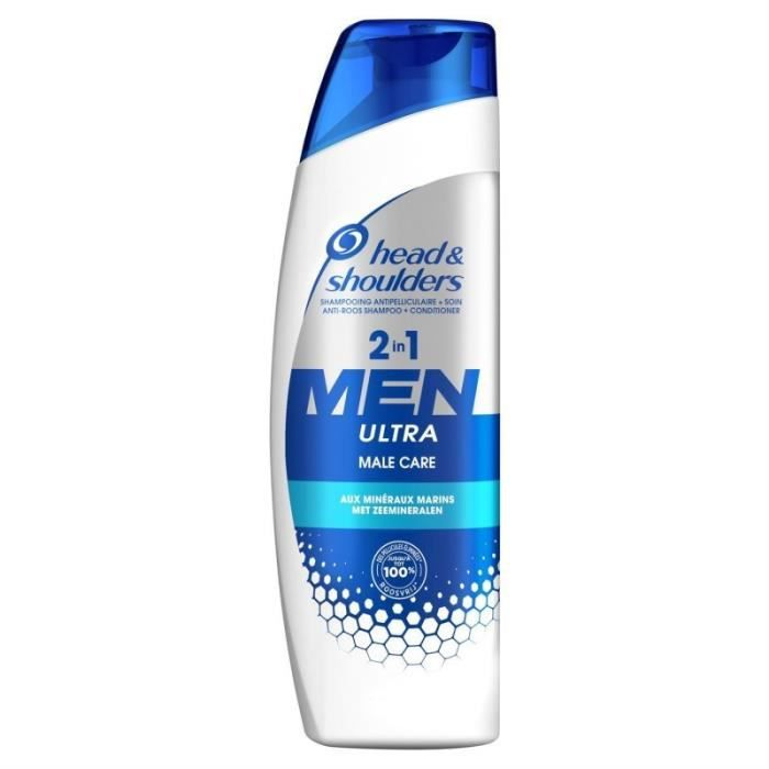 Head & Shoulders Shampooing Antipelliculaire + Soin 2 in 1 Men Ultra Male Care aux Minéraux Marins 2