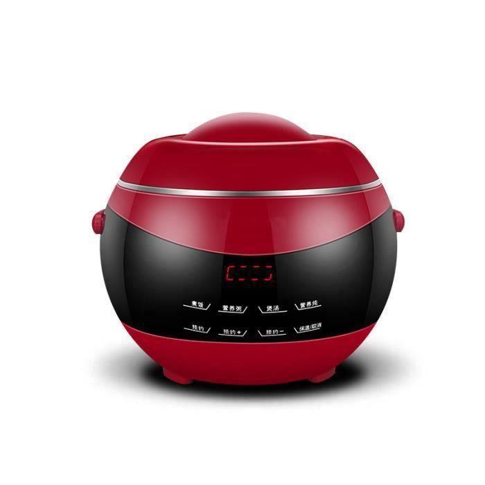 TEMPSA 3-4 Personnes 220V Petit Cuiseur à riz Multifonctionnel Mini Maison 2L Rouge