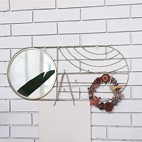 JHY DESIGN miroirs muraux Miroir Mural rectangulaire 59.7 cm Miroir murales Design Grand dor&eacute mirroir Decoration Murale Mi244
