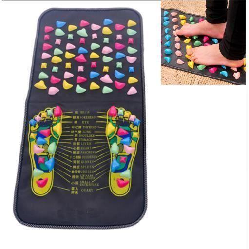 Tapis d'acupression, Pied Tapis de Massage réflexologie Plantaire Marche Toe Plate Massage Pad H04B5B