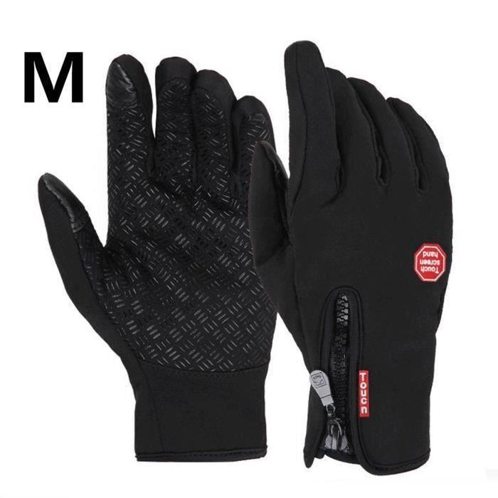 Gants moto vélo imperméable chaud conduire gants pour hommes et femmes noir M Aw63492