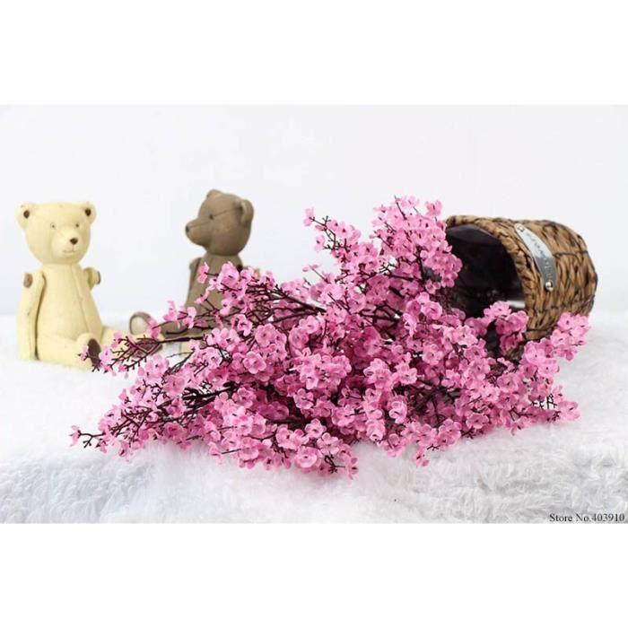 Fleurs de soie fleurs de cerisier fleurs artificielles faux Sakura arbre Branches japon décoration prune Flores Table ma ES15185