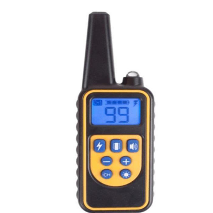 ABOIEMENT Taille Télécommande Collier d'entraînement pour chiens, accessoires pour chiens, étanche, Rechargeable, télé