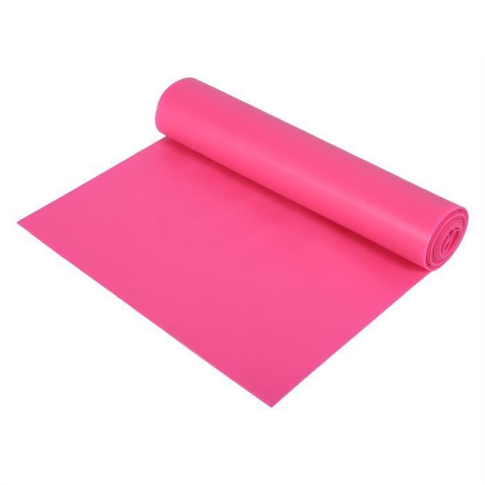 HURRISE sangle élastique de yoga 1.5M Fitness Strecth Band Yoga Sangle élastique Bande de fitness en caoutchouc (Rose rouge)