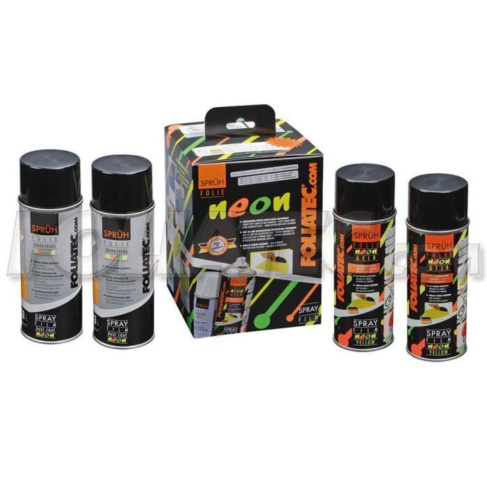 NEON LIQUID RUBBER 4 PC. SET JAUNE 2 X 400 ML + BASE DU MANTEAU 2 X 400 ML