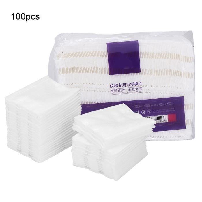 Accessoire de tatouage de tampons de coton de retrait de maquillage de coton de maquillage de tatouage épaissi doux -CET