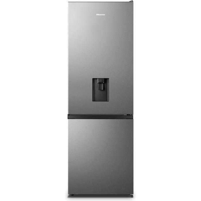 HISENSE RB372N4WD1 Réfrigérateur congélateur bas - 287L (207L+80L) - froid ventilé total - L59,5x H178,5 - silver
