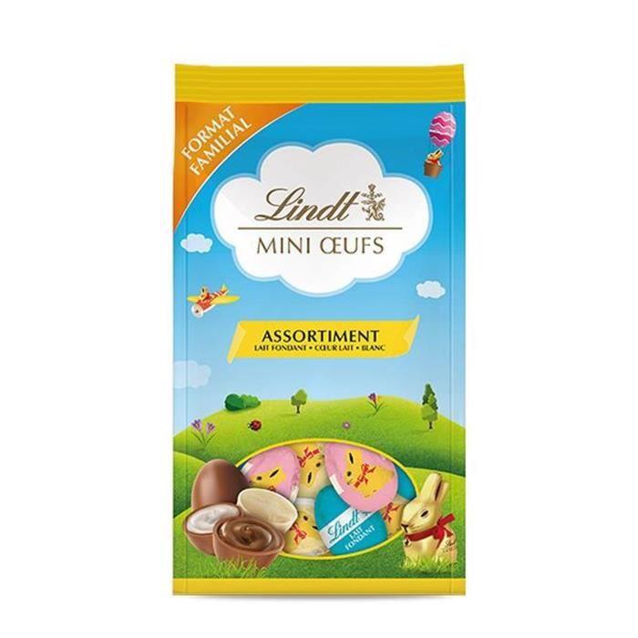 LINDT & SPRÜNGLI Sachet Mini œufs Lapin Or (Lait fondant, coeur au lait et blanc) - 350 g