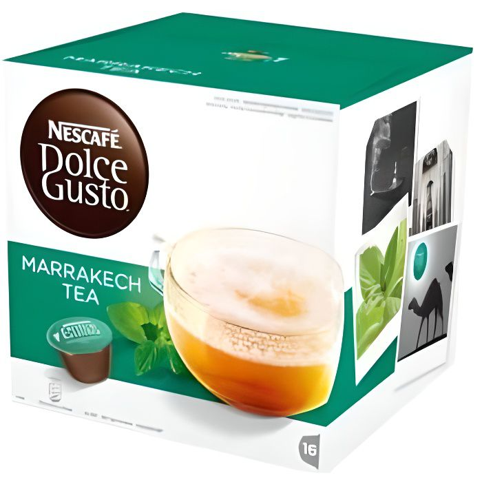 Cafe-Capsule - Nescafé Dolce Gusto - Capsules de café Nescafé Dolce Gusto 55290 Marrakesh Style Tea (16 uds)