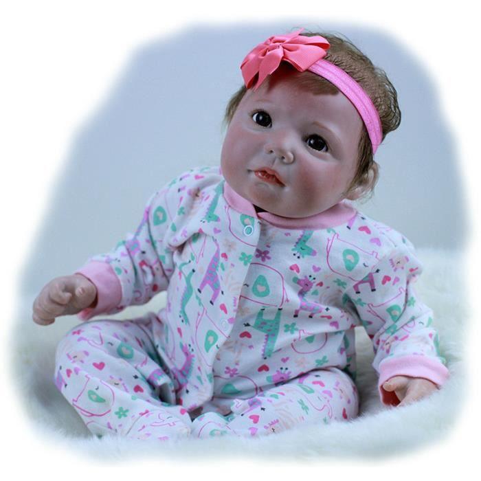 Bebes reborn poupée 50 cm Nouvelle Main Silicone reborn bébé adorable Réaliste enfant