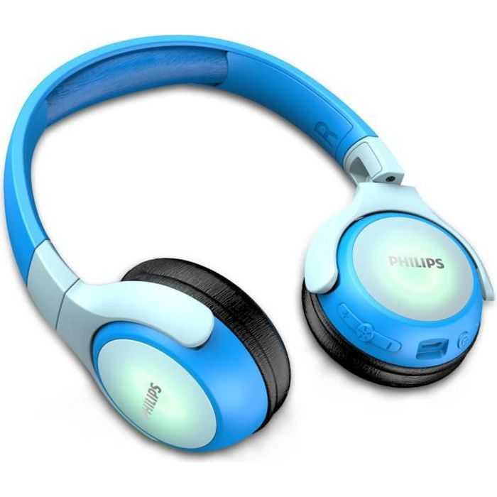 Philips TAKH402BL - Casque Enfants san fil - Bluetooth - Autonomie de 20h - Bleu