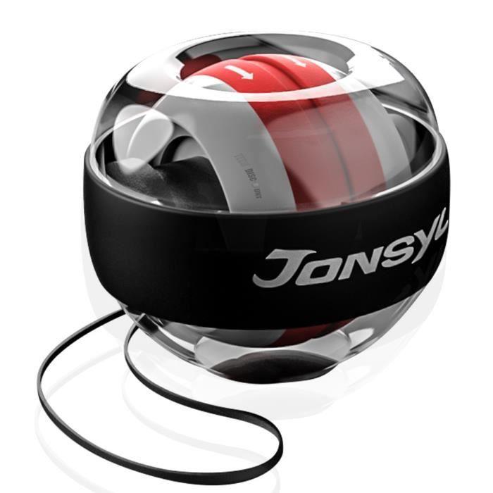 TD® Poignet Balle Dispositif de prise en main Dispositif de force du bras Balle de prise en main Matériel de musculation -Noir rouge