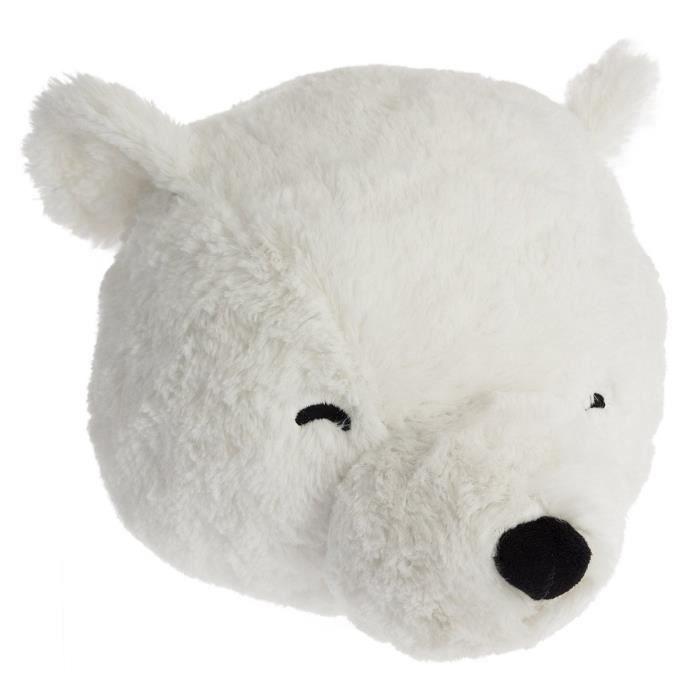 OBJET DÉCORATIF Peluche tête ourson blanc Autres Blanc