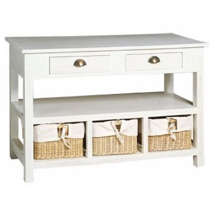 meuble de rangement blanc avec panier achat vente. Black Bedroom Furniture Sets. Home Design Ideas