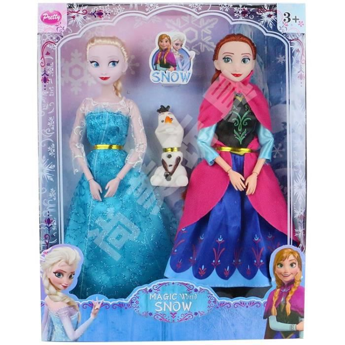 coffret elsa anna olaf poup e reine des neiges achat vente poup e coffret elsa anna. Black Bedroom Furniture Sets. Home Design Ideas
