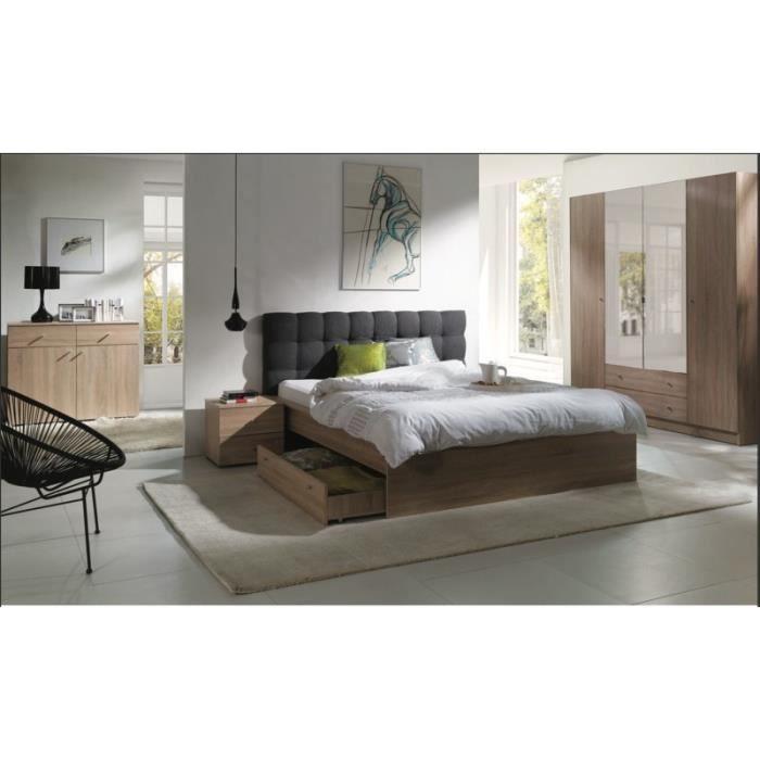 Chambre coucher compl te maxim lit adulte 160x200 cm - Chambre a coucher adulte complete ...