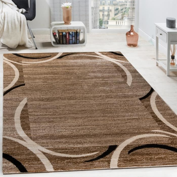 Tapis de salon marron et beige