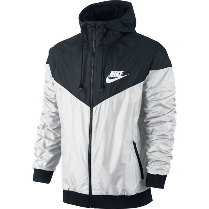veste nike windrunner blanc blanc achat vente veste de sport cdiscount. Black Bedroom Furniture Sets. Home Design Ideas