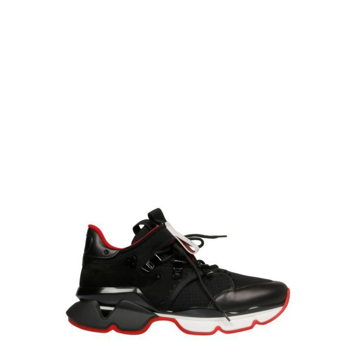 basket louboutin rouge homme