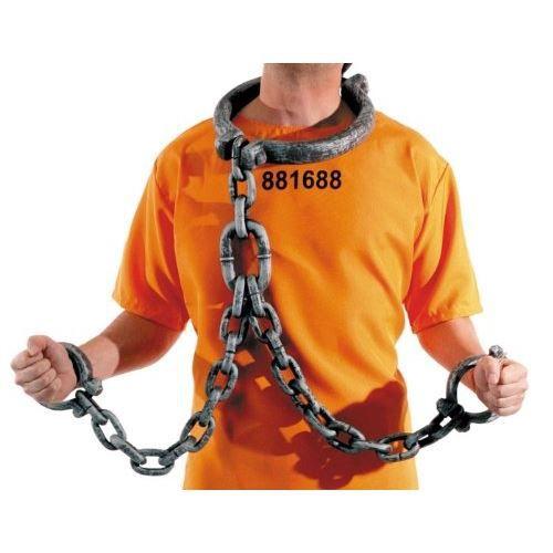 Bagnard Chaîne Maillons Chaîne Vengeurs Bracelet Forçat 140 cm prisonnier JGA