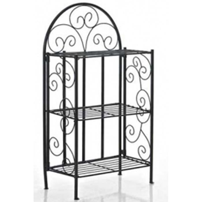 etagere en fer de jardin achat vente pas cher. Black Bedroom Furniture Sets. Home Design Ideas