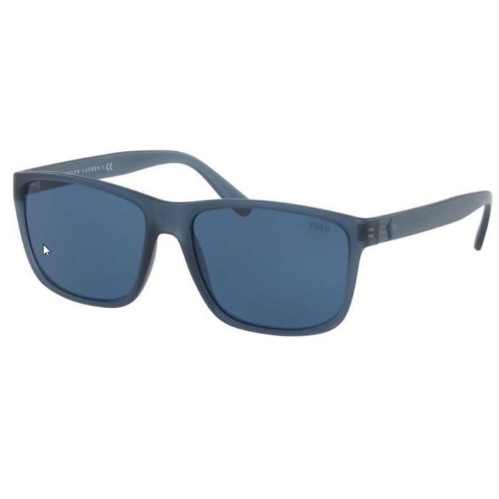 Lunette de soleil Polo Ralph Lauren Pony super light PH 4113 561280 57 Bleu  marine mat 0c0d081e574