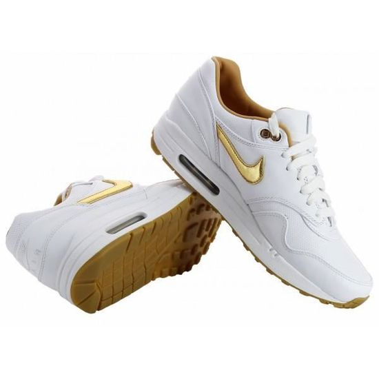 buy popular 154be 74a2a Basket Nike Air Max 1 FB Woven -... Blanc Blanc - Achat   Vente basket -  Cdiscount