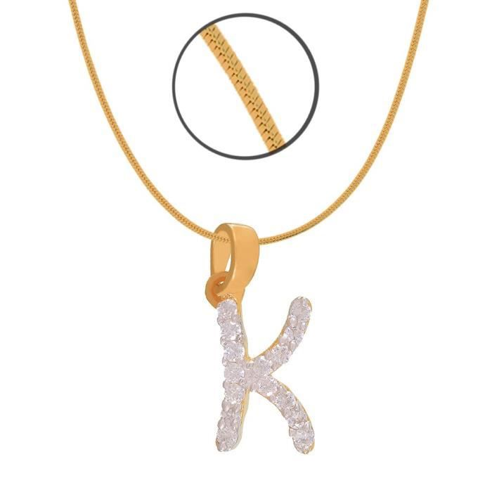Womens Gold Plated Kind K Initial Pendant Of Brass Alloy With Cz For Ps1101311g MW9Y6