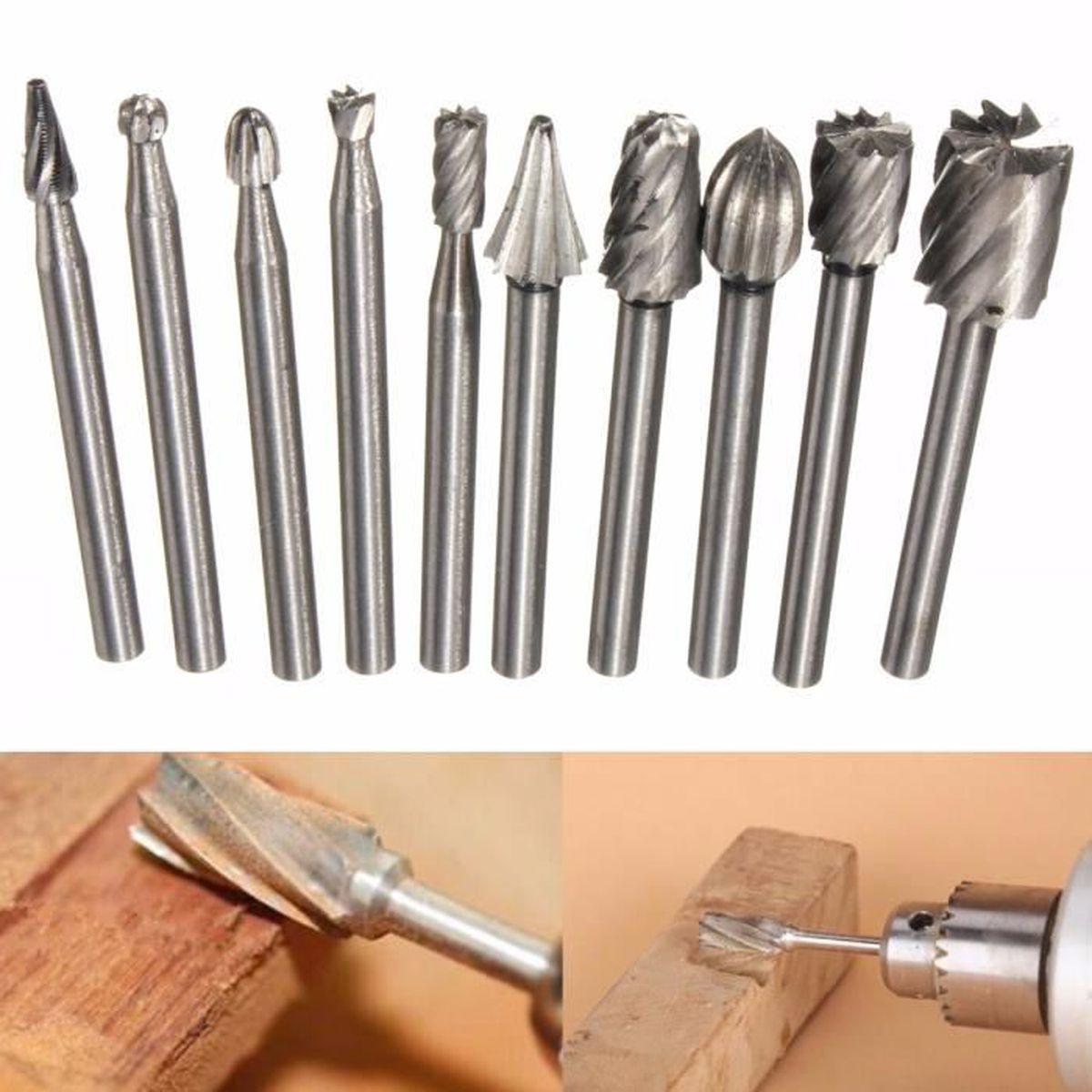20pcs 3mm Diamant Tige De Broyage M/èches De Fraise Set D/écoupant Foret Pour Outils Rotatifs