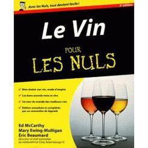 LIVRE VIN ALCOOL  Le vin pour les nuls