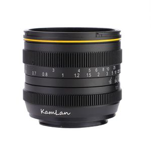 OBJECTIF LANQI Kamlan 50 mm f1.1 Objectif à Mise Au Point M